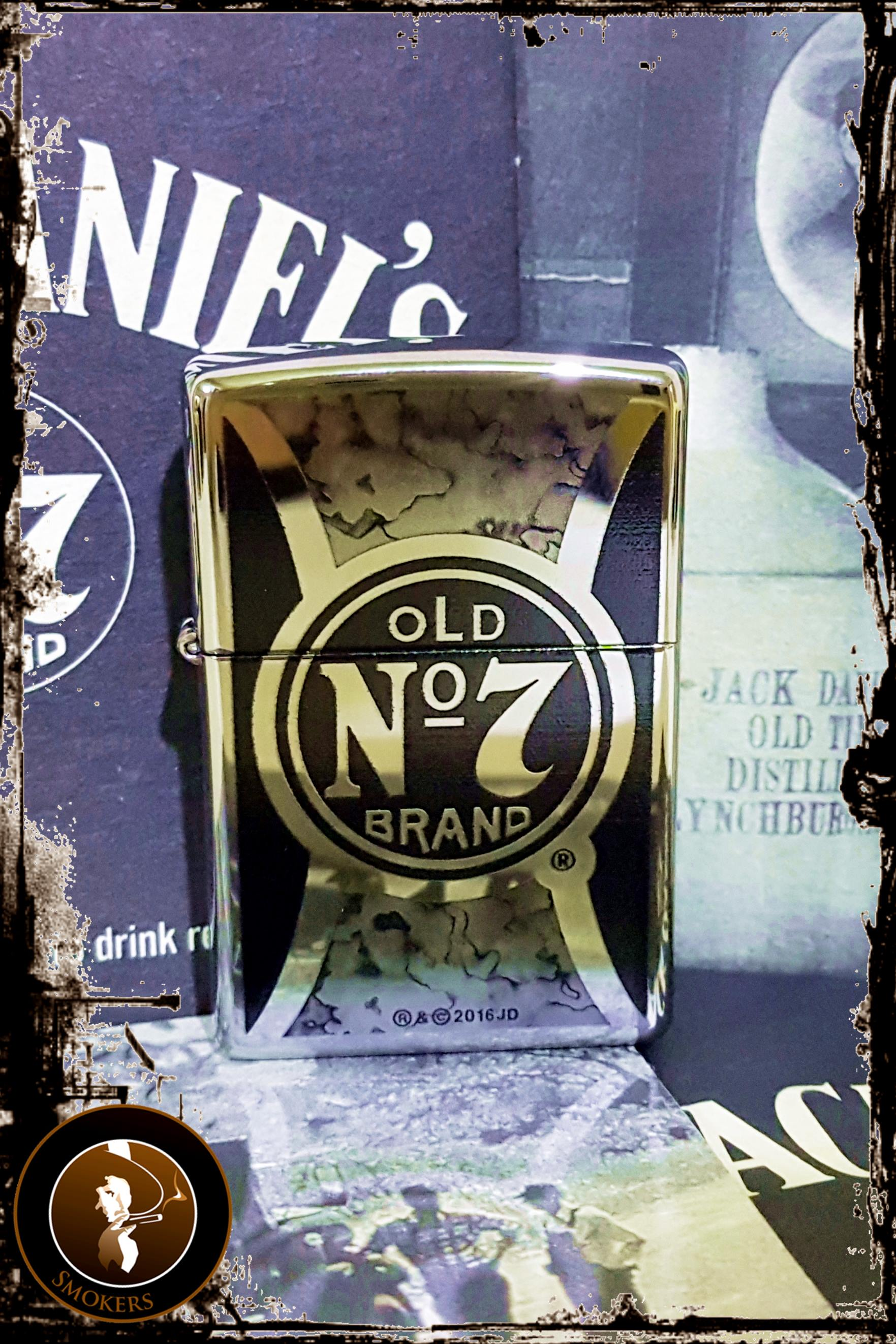 Bricheta Zippo Jack Daniels Old No. 7 High Polish Chrome
