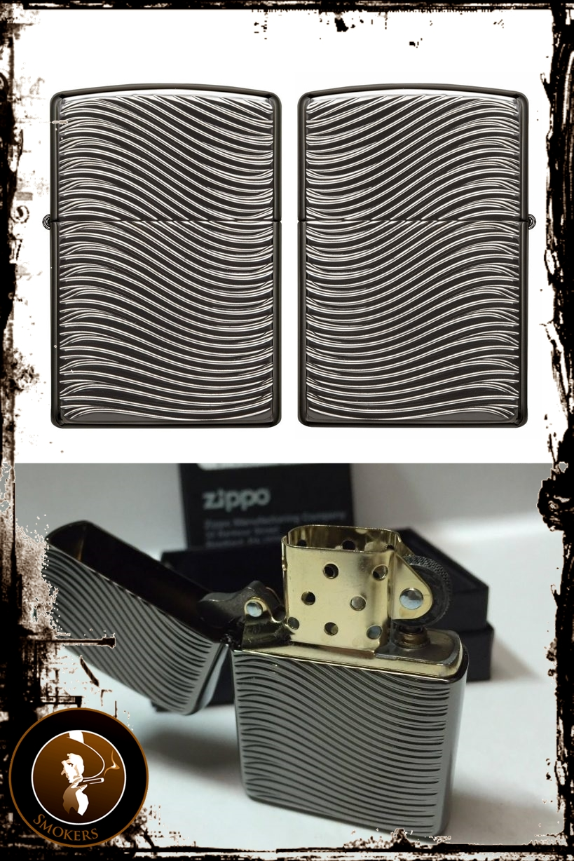 Bricheta Zippo Armor Case Deep Carve Waves