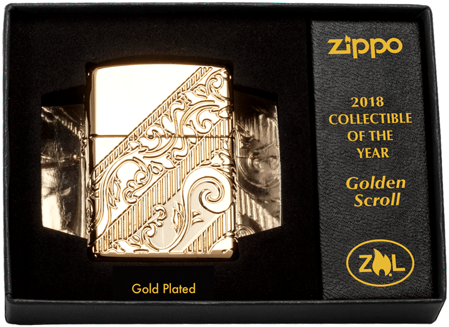 Zippo Golden Scroll – Collectible of 2018 – EDITIE LIMITATA