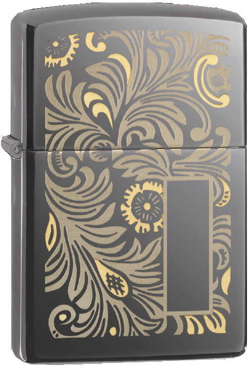 Bricheta Zippo Venetian Black Ice - Luxury Design