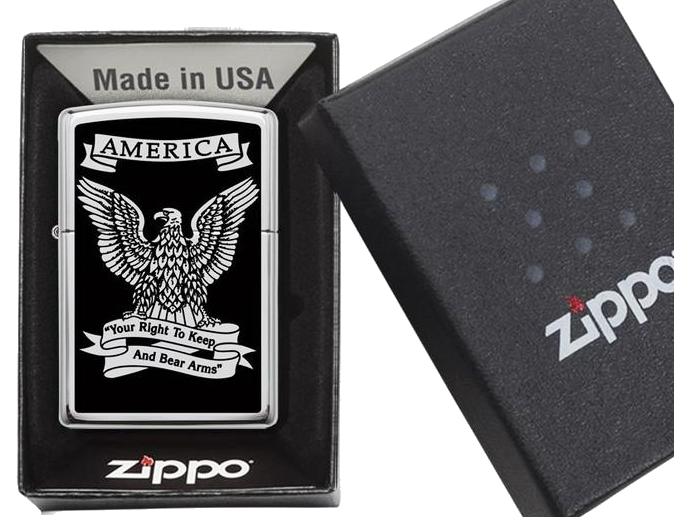 Bricheta Zippo Right to Keep and Bear Arms
